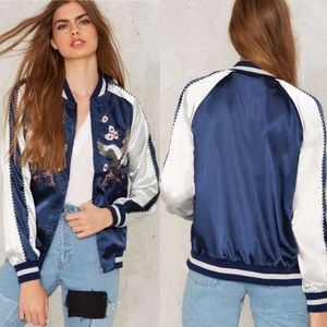 Nasty Gal Light as a Feather Bomber Jacket